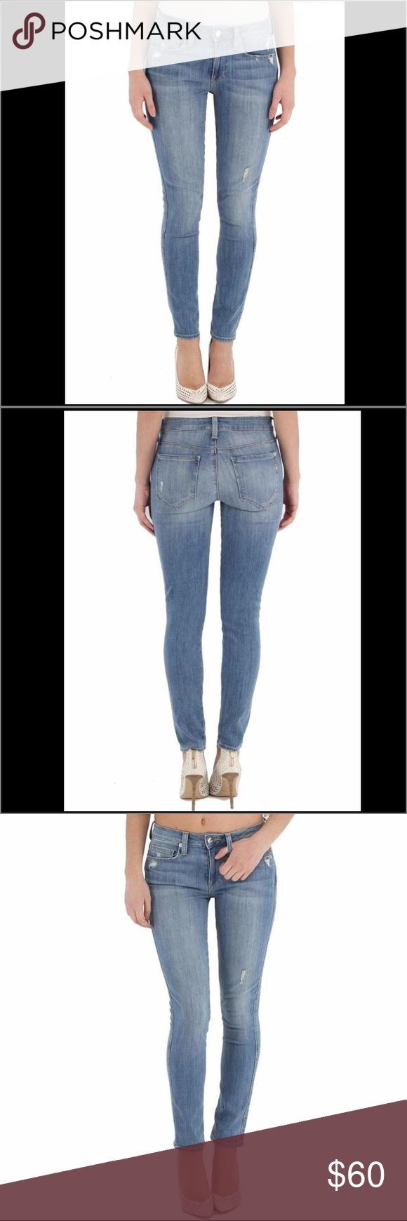 NWOTGenetic Denim solace highrise skinny crop jean These high rise skinny jeans are cropped slightly above the ankle. Crafted from super soft stretch fabric in a medium blue wash with slight distressing at the front pockets and thighs.         Measurements: approx: 9″ front rise, and 28″ inseam.                 New without tags. Genetic Denim Jeans Skinny