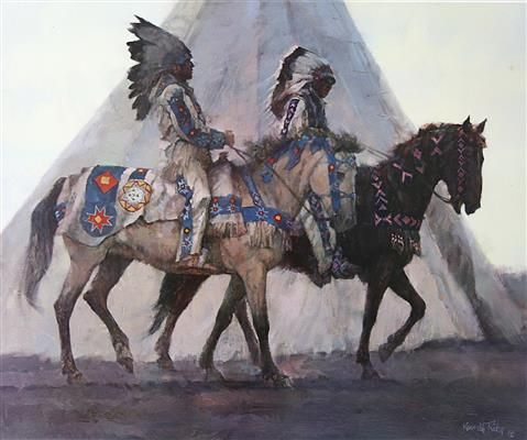 ken h riley blackfoot chiefs lithograph courtesy of the art in