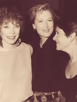 With Carrie Fisher and Shirley MacLaine in 1990
