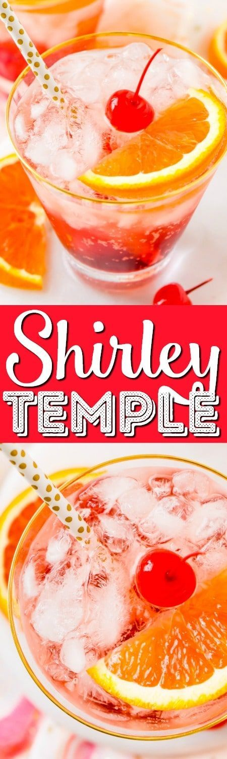 This Shirley Temple drink is a classic and nostalgic mocktail recipe made with homemade grenadine, ginger ale, ice, and an orange slice!