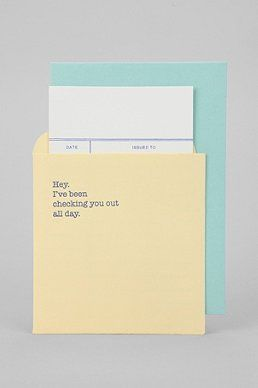 Checking You Out Card