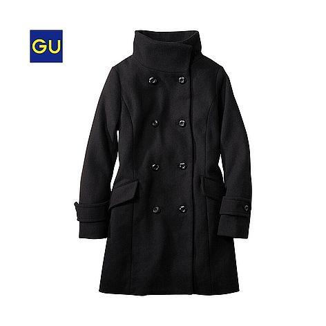 (GU)ダブルスタンドカラーコート - GU ジーユー