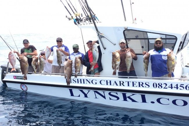 Deep sea fishing charters in Durban with Lynski Fishing Charters. Discover the best-kept secret of fishing in South Africa with Lynski Fishing Charters. Our custom-built boats and experienced crew will safely take you angling for a variety of fish in our warm Indian Ocean, including huge sharks, black, blue and striped marlin, sailfish, wahoo, tuna, dorado, king mackerel and a large variety of reef fish. You may keep or catch and release your fish. #dirtyboots #fishingcharters #durban