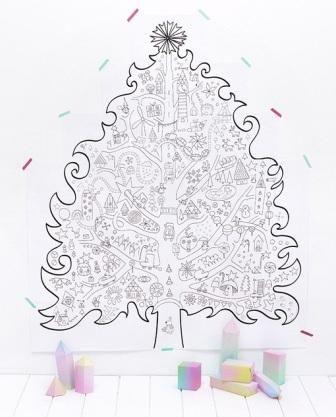 Раскраска елка