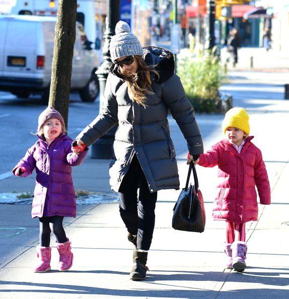 Sarah Jessica Parker com as gémeas Marion e Tabitha