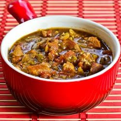 Great-looking slow-cooker Pork and Green Chile Stew. Use pork tenderloin and skip the oil for Phase 1 of the #FastMetabolismDiet