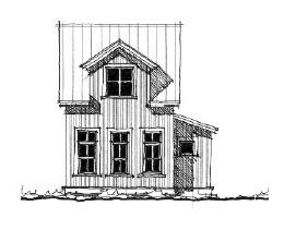 Elevation of House Plan 73819