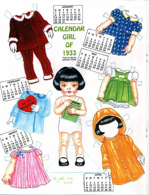 Calendar Girl - from Origami Bears 1 of 2