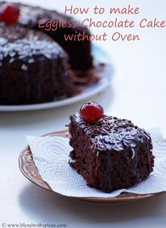 Eggless chocolate cake in the pressure cooker                                                                                                                                                                                 More