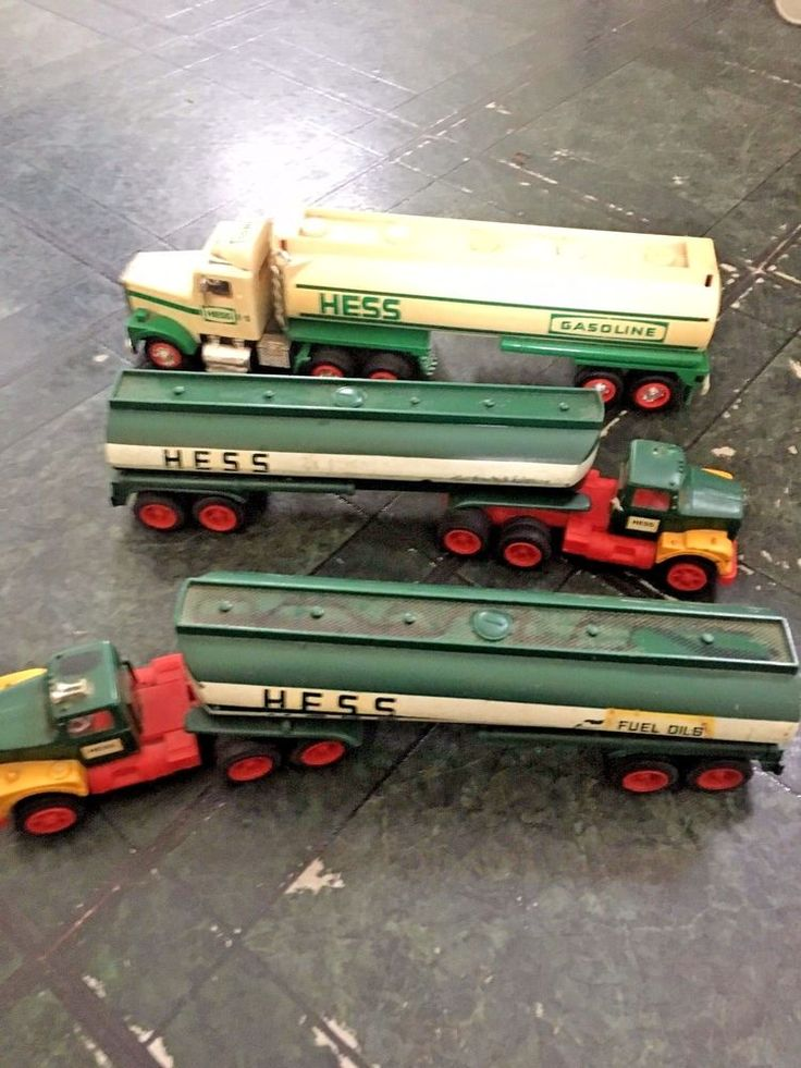 Vintage Hess Toy Trucks LOT OF 3 FOR PARTS OR RESTORATION! #AmeradaHess