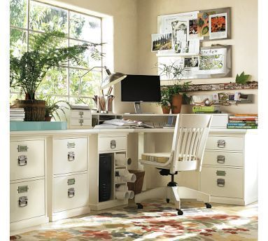 Decor Pad points out that Pottery Barn's Bedford Modular Desk Set can be acheived by almost half the cost by shopping J.C. Penney. The Pottery Barn version is pictured above and the new J.C. Penney version below. Each look contains the same elements, which are listed below along with their prices. To get the discounted J.C. Penney prices you can get 4% back at Ebates.com and a 15% off coupon via coupon code APRSURV9.                                           P.B.        J.C.P. Corner ...
