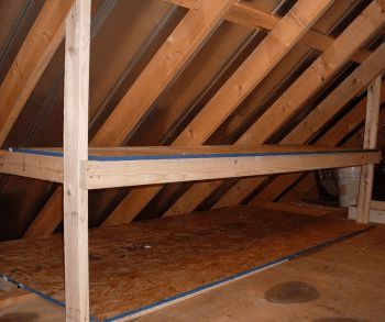 25 best ideas about attic organization on pinterest for How much to build a garage with loft