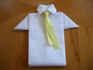 Men's Hankie Shirt Folding Tutorial-  What a cute way to present a men's handkerchief to your loved one.