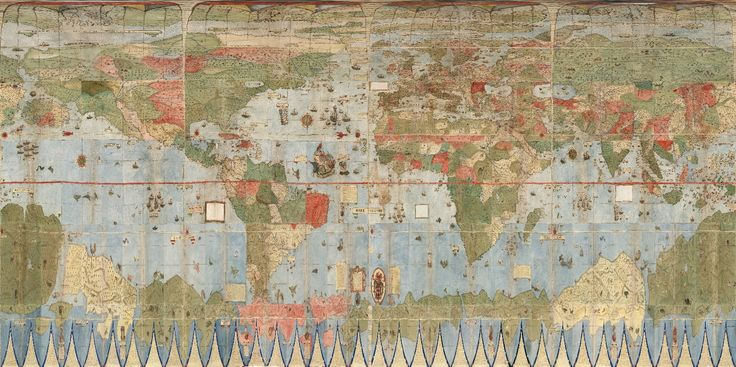 David Rumsey Historical Map Collection | Largest Early World Map - Monte's 10 ft. Planisphere of 1587