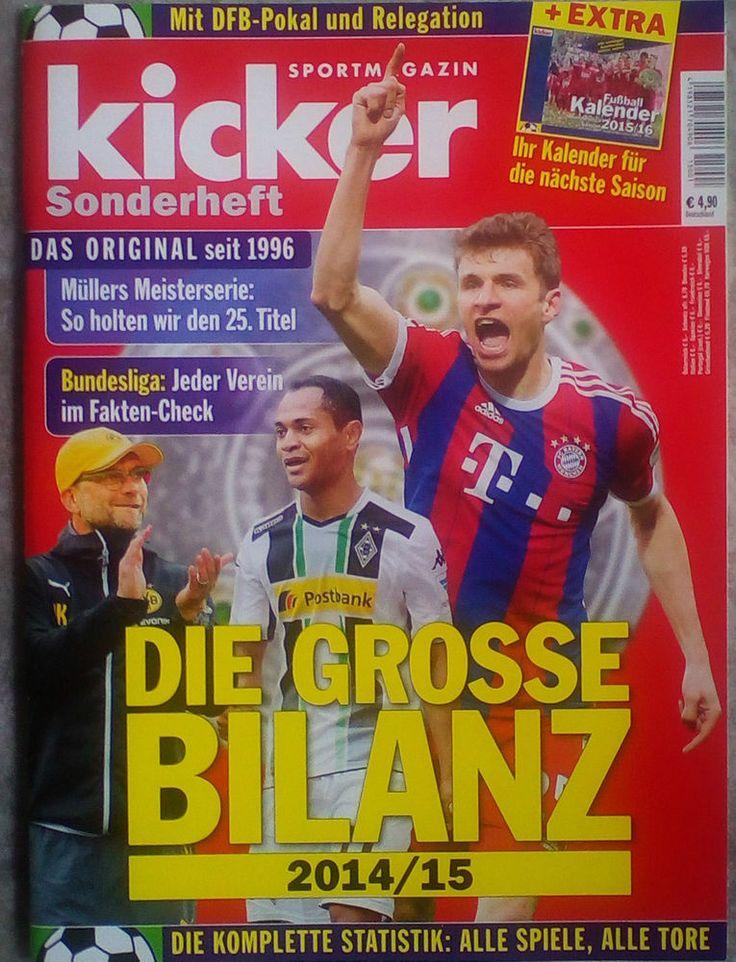 Kicker!Magazin!!Sonderheft 2014/15!NEU!MIT KALENDER!!!