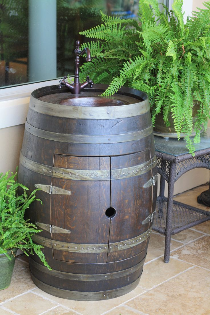 Cool things my (redditors) friend makes out of wine barrels - Imgur
