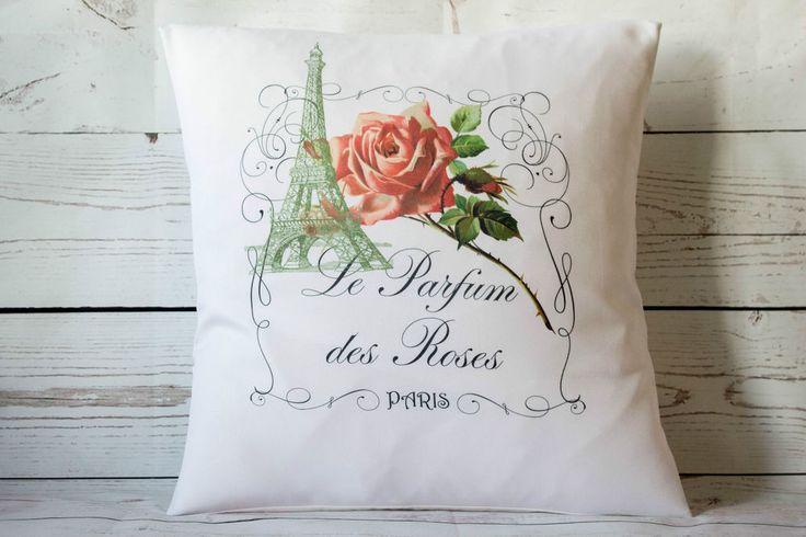 Parfum Paris - 16  cushion cover French shabby vintage chic - UK handmade