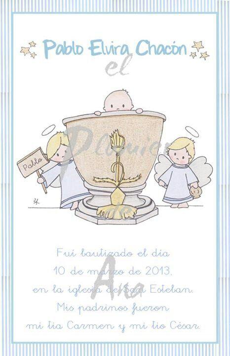 Pablo fue bautizado en la pila de San Vicente Ferrer.