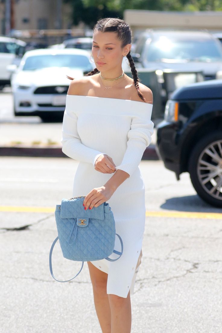 The dress is chanel - Hadidfashion Bella Hadid Out And About In Los Angeles Ca 08 03