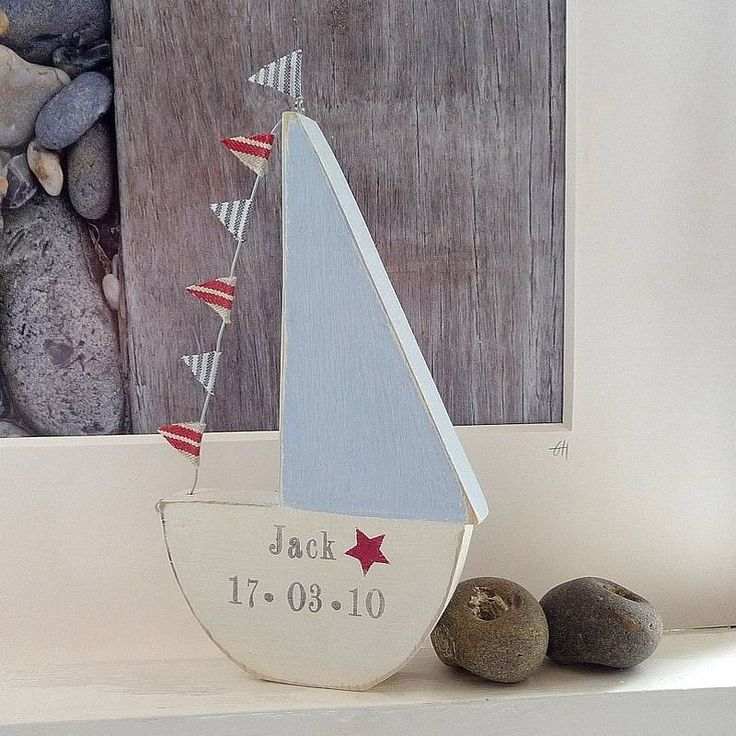 personalised chunky sailing boat by rachel pettitt designs | notonthehighstreet.com