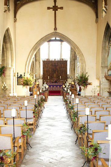 wedding chapel decorations wedding at fordingbridge church tvc has pew 8956