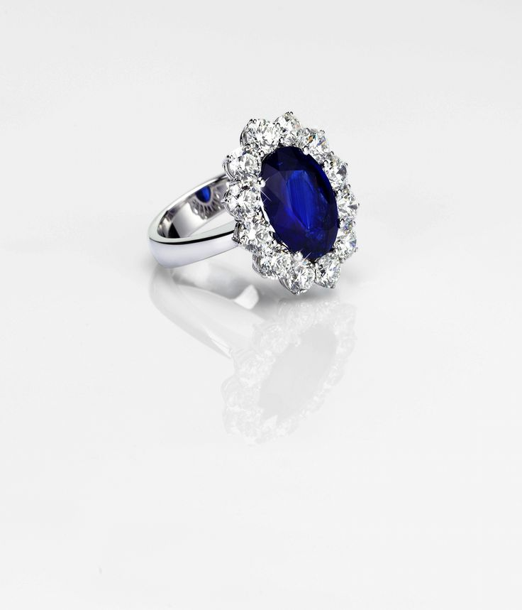 Ocean Blue Sapphire and Diamonds