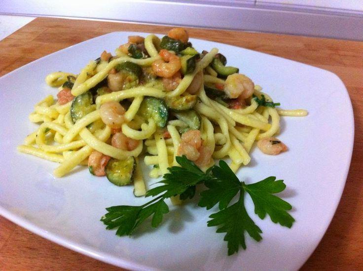 scialatielli con gamberi e zucchine ricetta di amalfi campania
