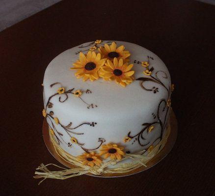 Small Sunflowers Cake By Luna cakepins.com