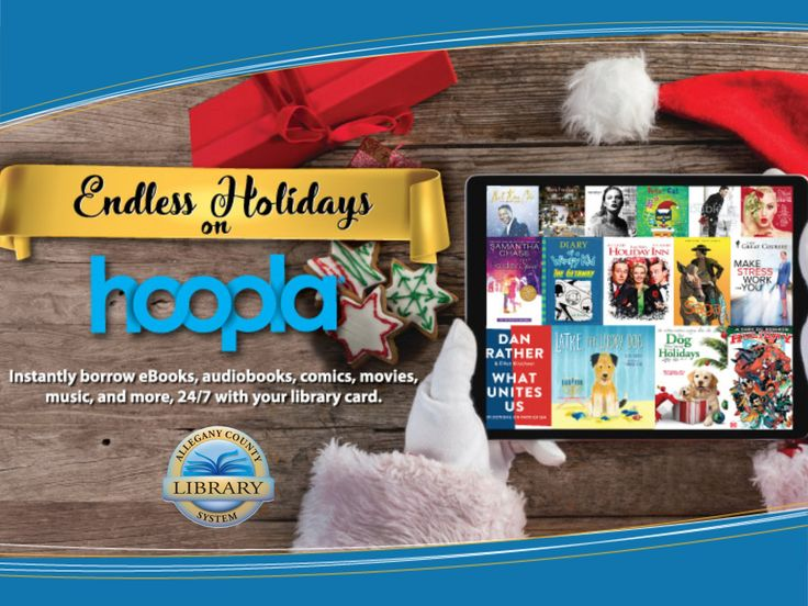 The Allegany County Library System is excited to introduce a free new streaming service called Hoopla. Similar to Netflix, Hoopla gives users instant access to thousands of movies, music albums, eBooks, eAudiobooks, TV series, comics, and graphic novels. Library patrons can use their library card number to check-out titles via the Hoopla website (www.hoopladigital.com) or through the free Hoopla app. The app can be downloaded on iTunes or Google Play at no charge.