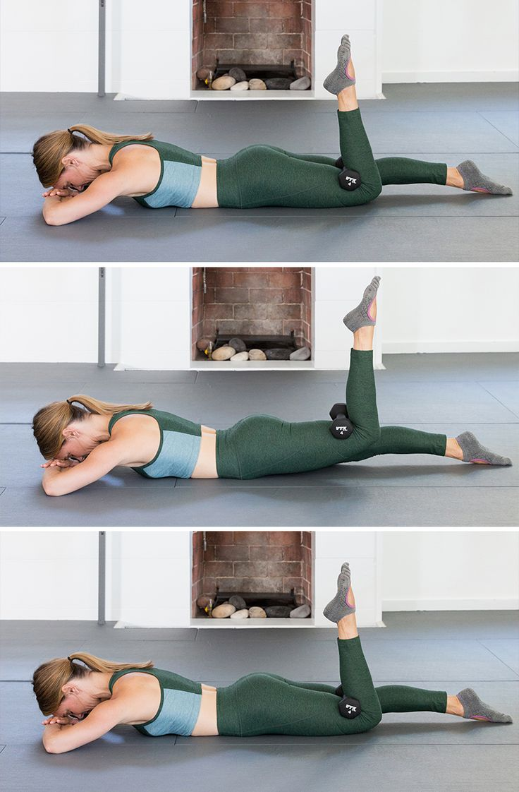 weighted prone -- now THIS will get your butt in shape!