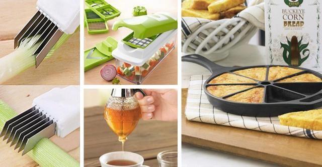 Zobacz zestawienie niesamowitych gadżetów, dzięki którym Twoje praca w kuchni będzie łatwa, szybka i przyjemna. GADŻETY KUCHNIA DODATKI INSPIRACJE POMOC