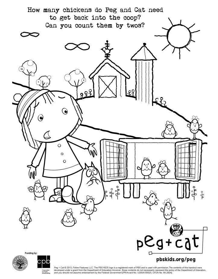 can you help peg cat count by twos find this pin and more on pbs coloring pages