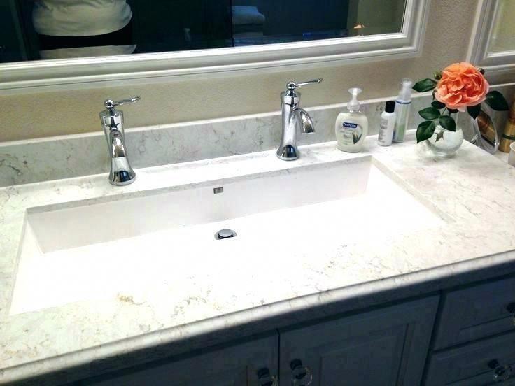 Long Bathroom Sink Double Trough, Trough Sink For Bathroom