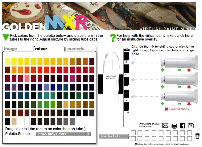 Golden Acrylic Color Chart Ibovnathandedecker