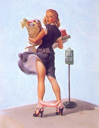 Image result for vintage pin up shopping