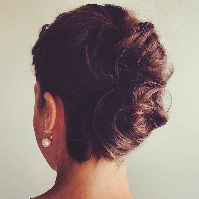 Up up and away! Bridal ready soft twisted french rolls  Hair by Clarissa #kocalane #bride #bridalhair #hair #updo #frenchroll #upstyle #hairup #hair #wedding #fff #lfl