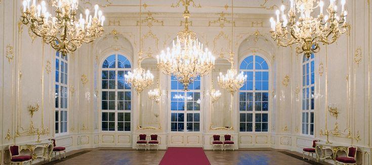 Konzertsaal im Sissi-Schloss in Gödöllő.