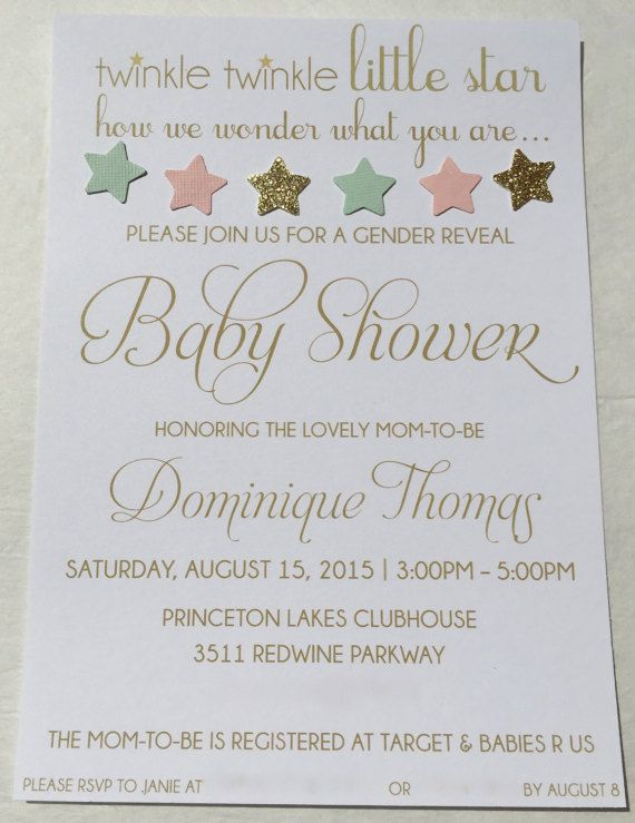 170 best images about twinkle twinkle little star baby shower on, Baby shower invitations