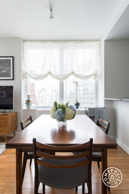 Airy and Elegant in NYC - @Homepolish New York City curtains