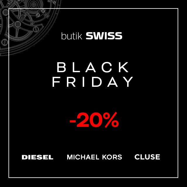 Zapraszamy na magiczny Black Friday do butiku SWISS gdzie czeka na Ciebie wyjątkowa oferta. Odliczamy czas do tego prawdziwego Święta zakupowego! Spotkajmy się w butiku SWISS!  * dotyczy tylko zegarków i nie łączy się z innymi promocjami