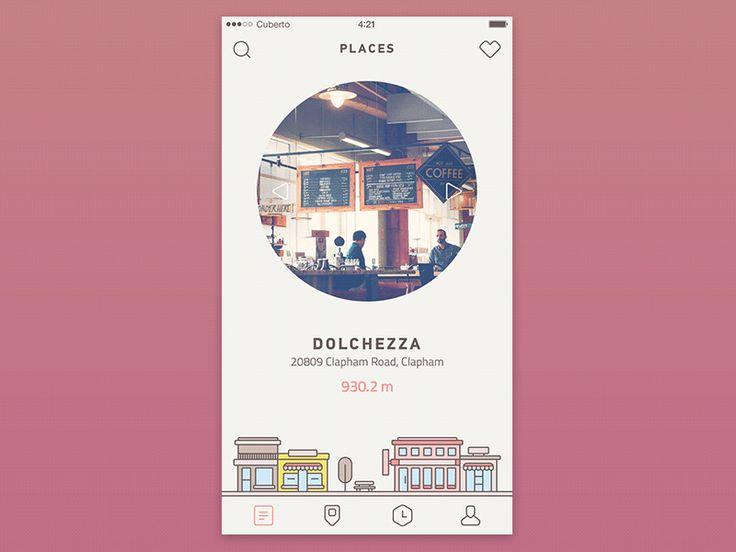 Coffee app by Cuberto https://dribbble.com/shots/2624592-Coffee-app #zeeenapp