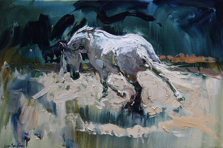 Andalusian Mare, Oil painting by Lynne-Marie Eatwell, South African Artist based in Cape Town, Equine Art