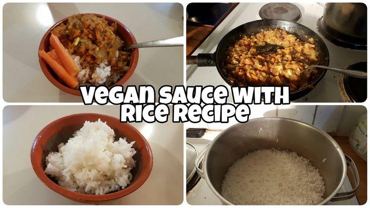 Vegan sauce with rice