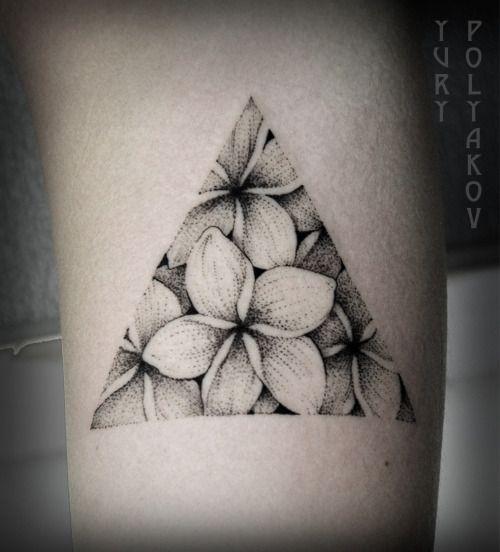 Triangle flower tattoo