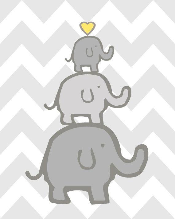 Elefant Kinderzimmer Dekor, Elefant Kinderzimmer Kunst