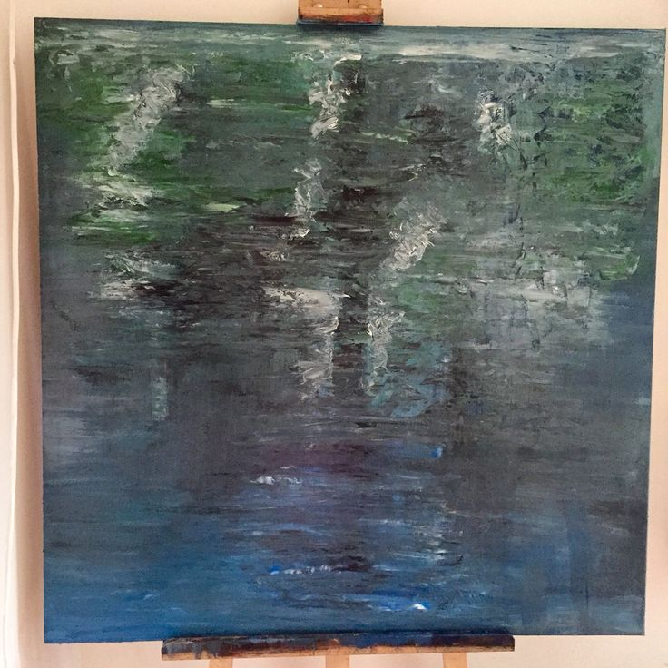 Reflection, oil on canvas, 100x100 cm