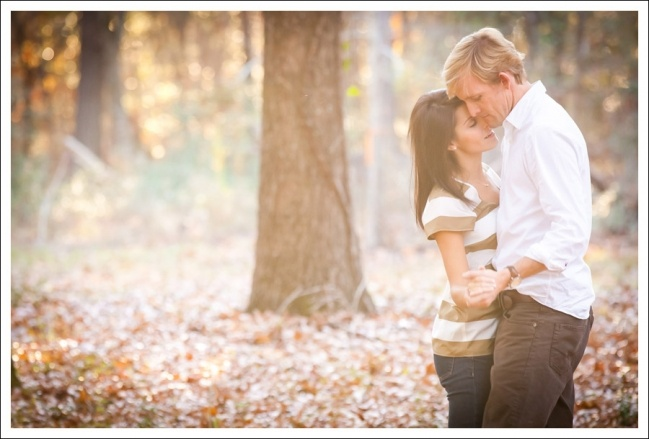 Romantic pose and lighting