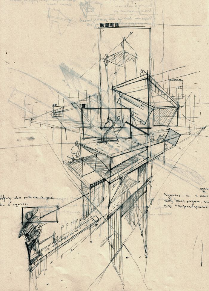 Projection Perspective Drawing Architecture Arquitectura