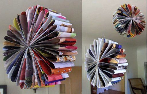 How to turn recycled catalogues into beautiful glower garlands | DIY Tag