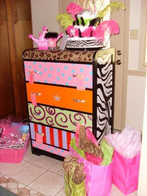I SO hope that Adi ends up being a super girly girl! I would love to refinish a dresser like this for her when she gets older!